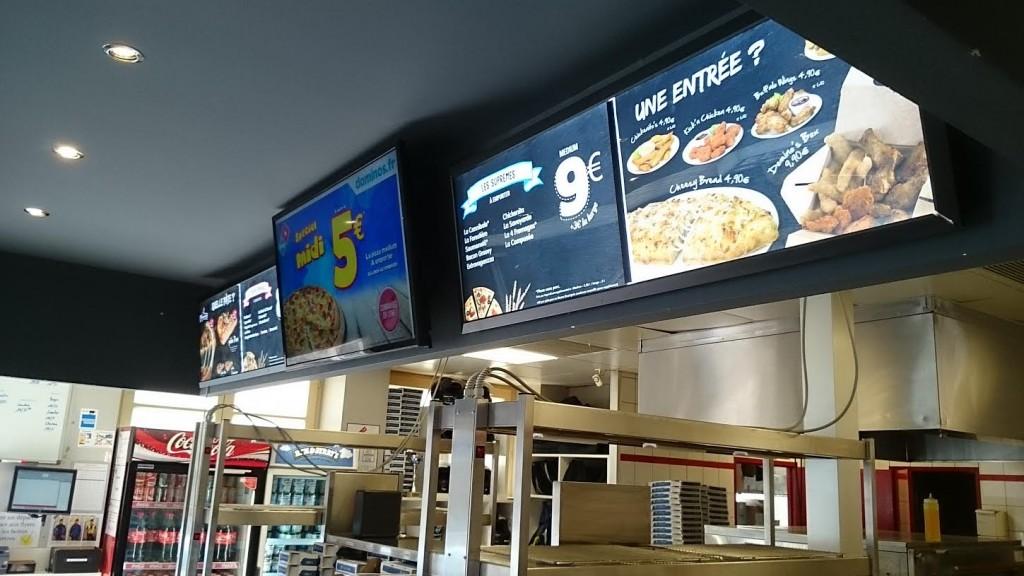 Menu digital pour restaurant écran led