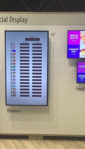Ecran mural tactile pour restaurant et office de tourisme