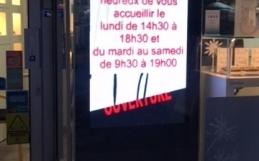 Ecran vitrine magasin Montpellier